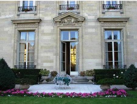 L'hôtel de La Trémoille : détail de la façade sur le jardin