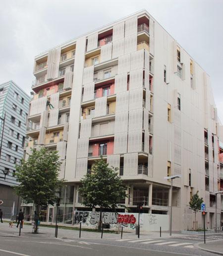 Les logements sociaux, rue Cardinet