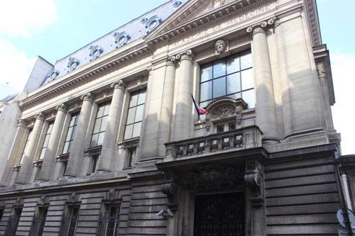 L'académie de Médecine : la façade sur rue d'inspiration classique