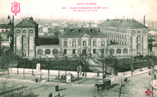L'école Estienne - Carte postale ancienne