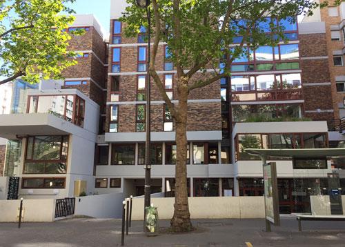 Ecole d'infirmières : l'entrée sur la rue de Reuilly