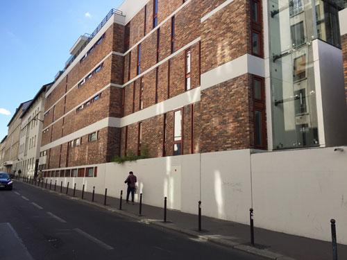 Ecole d'infirmières Rue de Reuilly : la façade sur la rue du sergent Bauchat