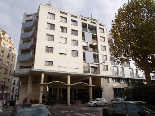 Le foyer franco-libanais : la façade rue d'Ulm