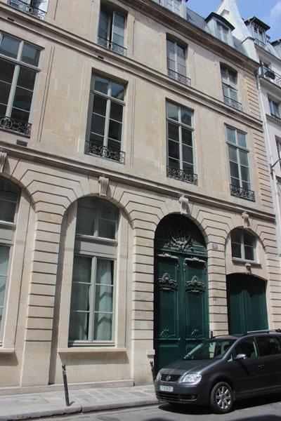 L'hôtel Dodun : la façade du bâtiment donnant sur la rue de Richelieu