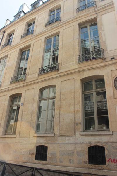 L'hôtel Dodun : la façade arrière de l'hôtel, donnant sur la rue Molière