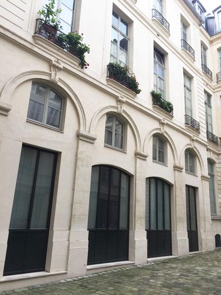 Hôtel Dodun : l'unique aile de l'hôtel, située dans la cour