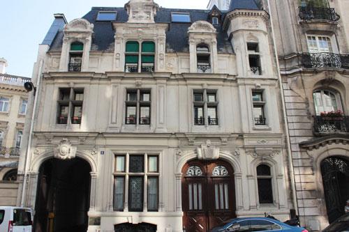 L'hôtel Henri Menier - La façade sur rue