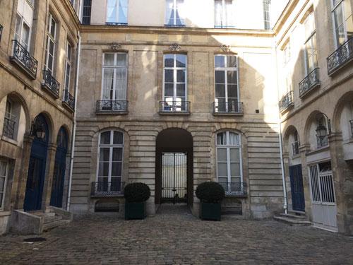 L'hôtel de La Tour du Pin - La façade sur cour