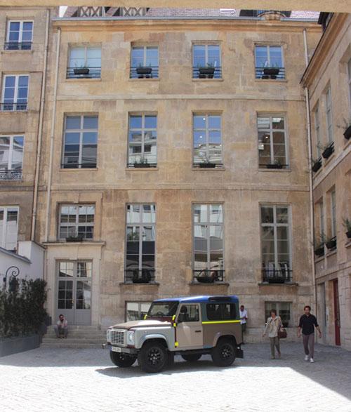 L'hôtel de Montescot - La façade du logis côté cour