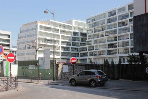 Immeuble de logements Rue Marie-Georges Picquart - Vue de la rue de Saussure