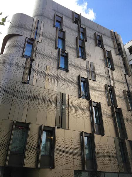 Les logements étudiants, façade sur cour