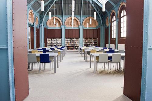L'actuelle bibliothèque Sainte-Barbe : l'ancienne salle des dessins devenue salle de lecture
