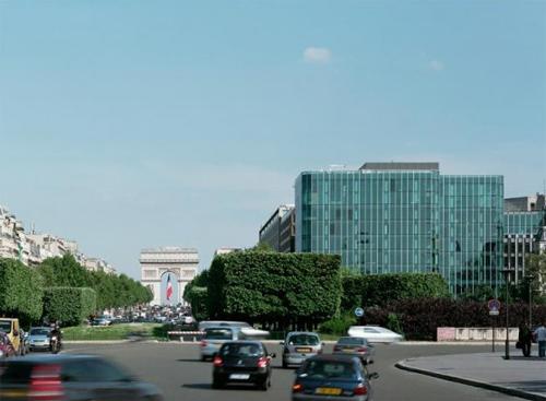 Le Diamant bleu - Vue de la place du Palais des Congrès