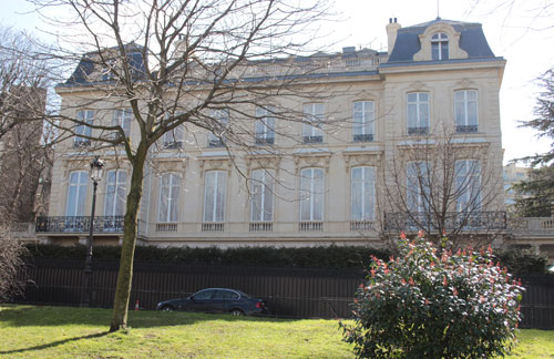 L'hôtel Ephrussi-Rothschild - La façade donnant sur l'avenue Foch