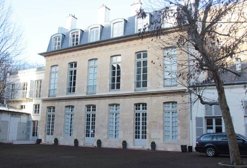 L'hôtel d'Hinnidal : la façade sur la cour