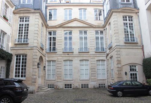 L'hôtel de La Feuillade : la façade sur cour a été surélevée d'un étage