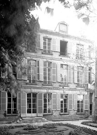 L'hôtel de La Feuillade : la façade sur le jardin