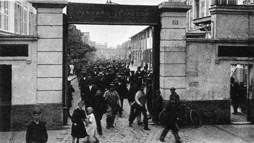 L'entrée de l'usine Panhard et Levassor