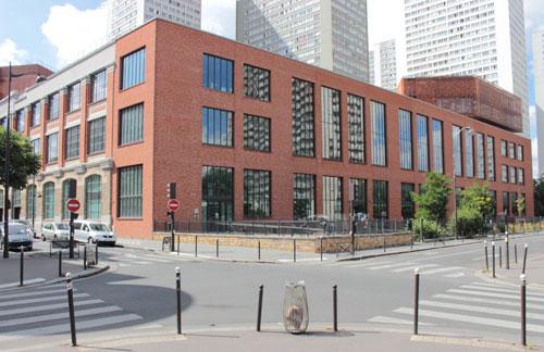 Le bâtiment vu de la rue Nationale