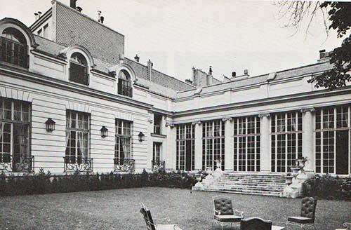 Hôtel de Chaneleilles - Façade sur le jardin et aile moderne