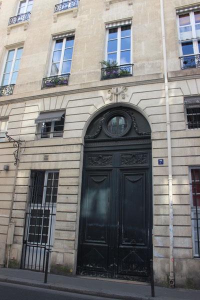 Portail du n°7 rue Bonaparte