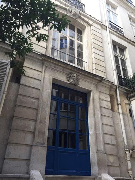 La façade donnant sur la cour