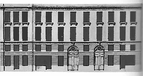 Le grand hôtel de Persan : élévation de la façade sur la rue