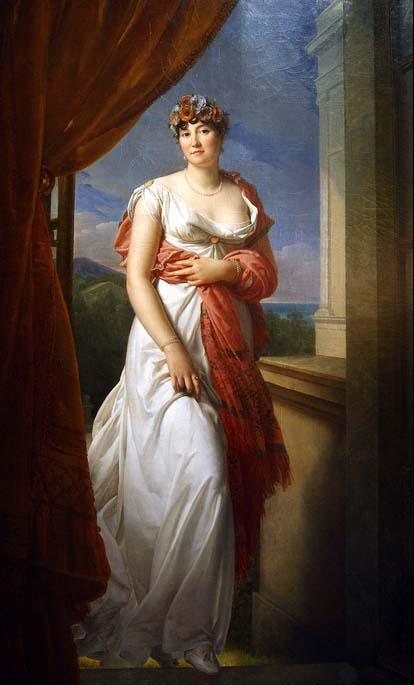 Portrait en pied de Mme Tallien, née Thérésa Cabarrus, par le baron Gérard, vers 1804