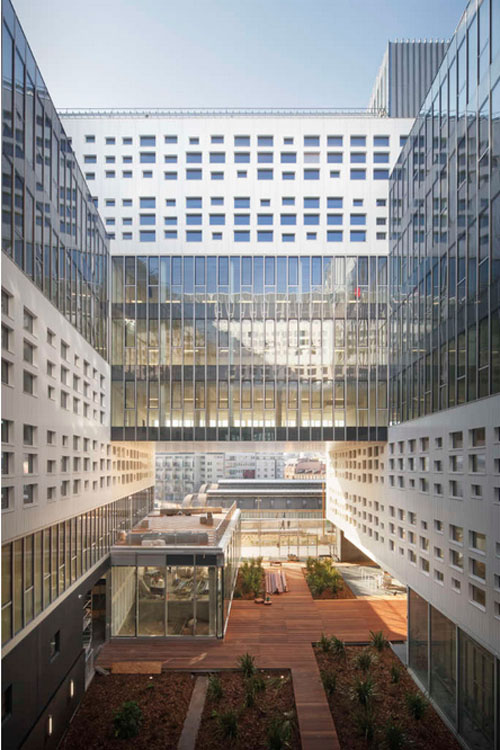 Immeuble Panorama : le jardin intérieur