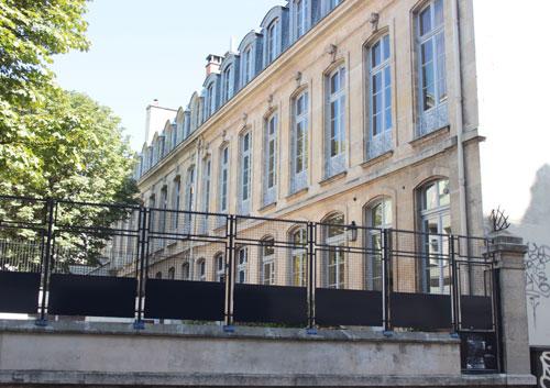 L'hôtel Peyrenc de Moras puis hôtel Bergeret de Frouville : la façade sur le jardin transformé aujourd'hui en cour d'école