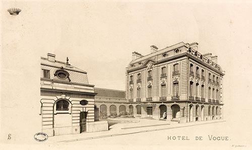 L'hôtel de Voguë dessiné en perspective