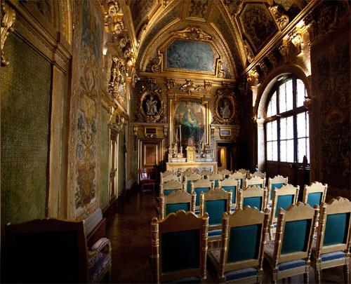 La chapelle privée de la reine Marie de Médicis. Elle communiquait avec la chapelle du couvent.