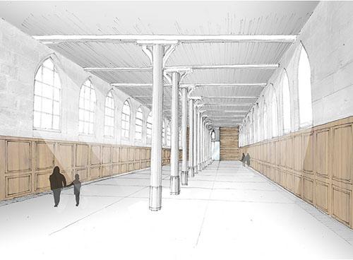 Le réfectoire : la nouvelle salle sera dédiée à des événements culturels