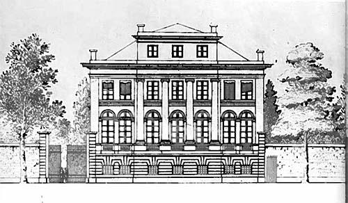 L'hôtel d'Argenson - Elévation de la façade sur rue