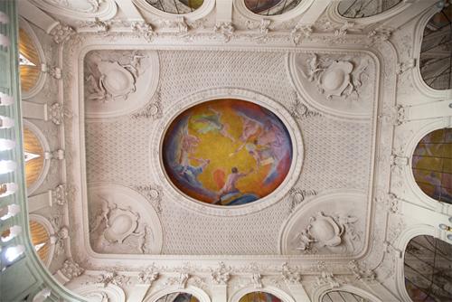 Le Petit Luxembourg : le plafond de l'escalier