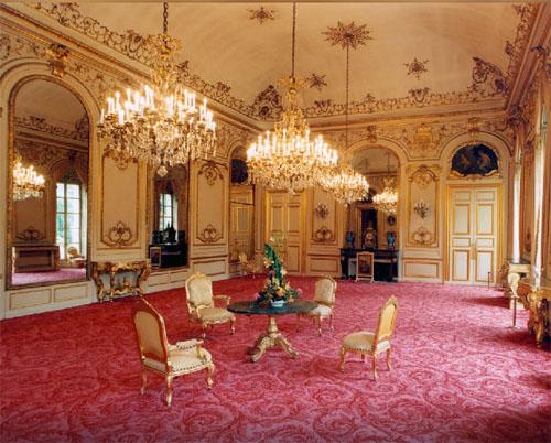 Salon du 1er étage décoré par Boffrand