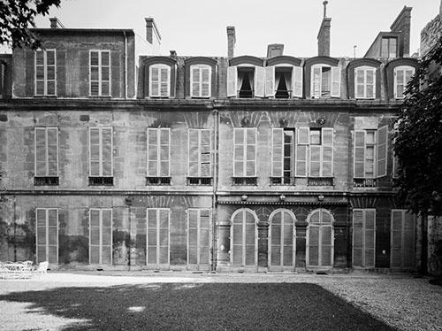 L'hôtel de Fürstenberg : la façade donnant sur le jardin