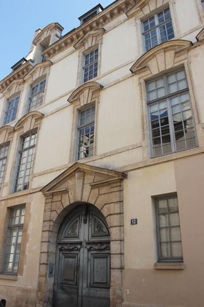 L'hôtel de Launay - La façade sur rue