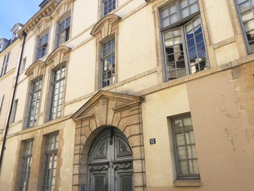 L'hôtel de Launay : la façade sur la rue