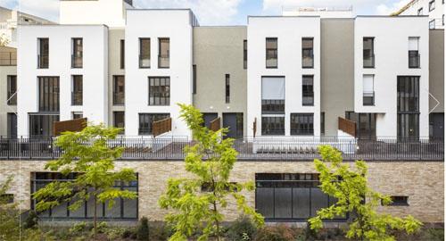 Résidence étudiants et logements Rue de Meaux : les maisons de ville
