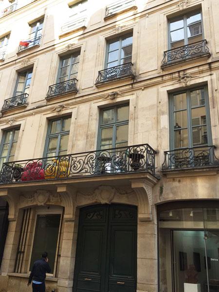 L'hôtel de Blégny : la façade sur rue