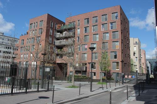 Logements sociaux M07 - Vue de la rue Jeanne Chauvin