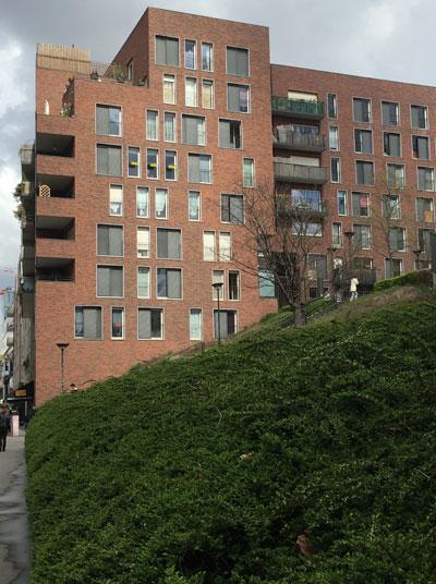 Logements sociaux M07 - Vue de la rue du Chevaleret