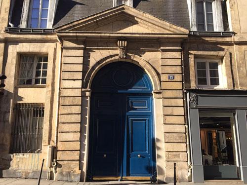 L'hôtel de Schömberg : le portail sur rue