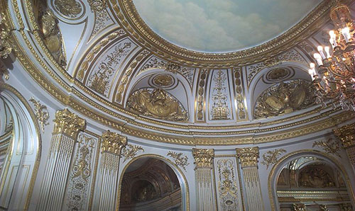 L'hôtel de Cassini : le plafond du salon ovale