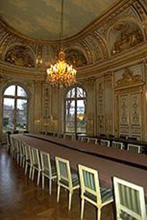 L'hôtel de Cassini : le grand salon en rotonde