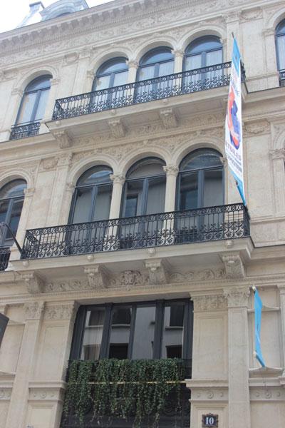 L'hôtel Soltykoff - Détail de la façade