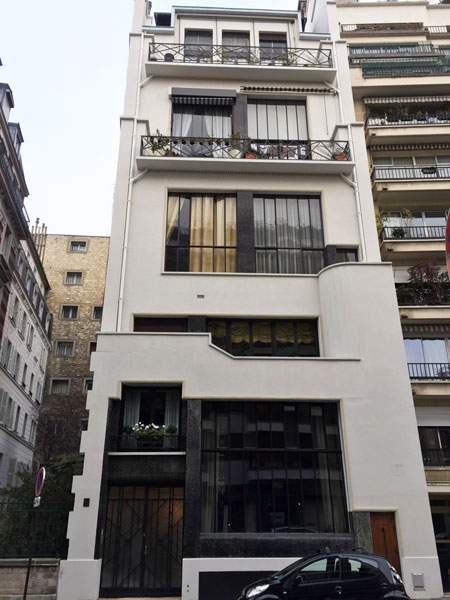 Logements Rue du docteur Blanche : la façade sur rue