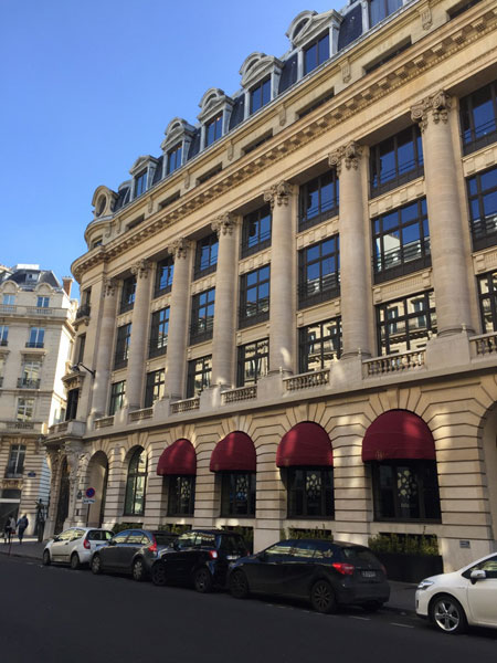 Le Banke hôtel - La façade sur la rue Lafayette