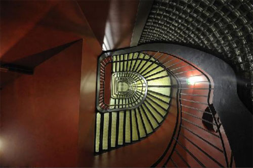 Le Banke hôtel : l'escalier